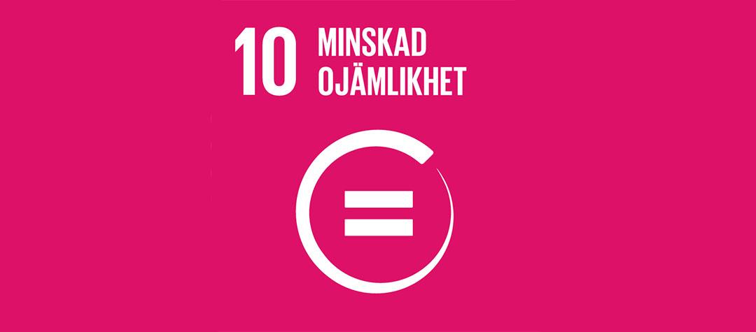 Globala målen nr 10 - minskad ojämlikhet