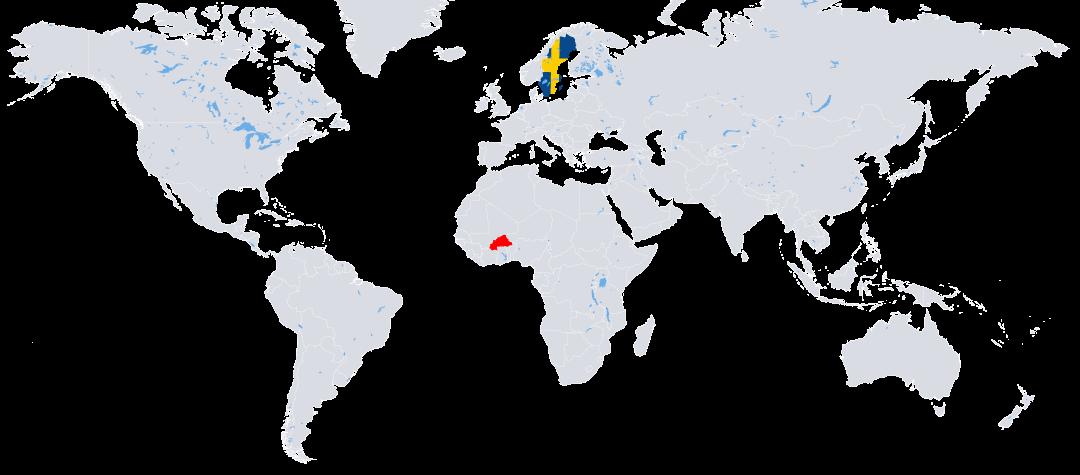Rafiki världskarta, Burkina Faso