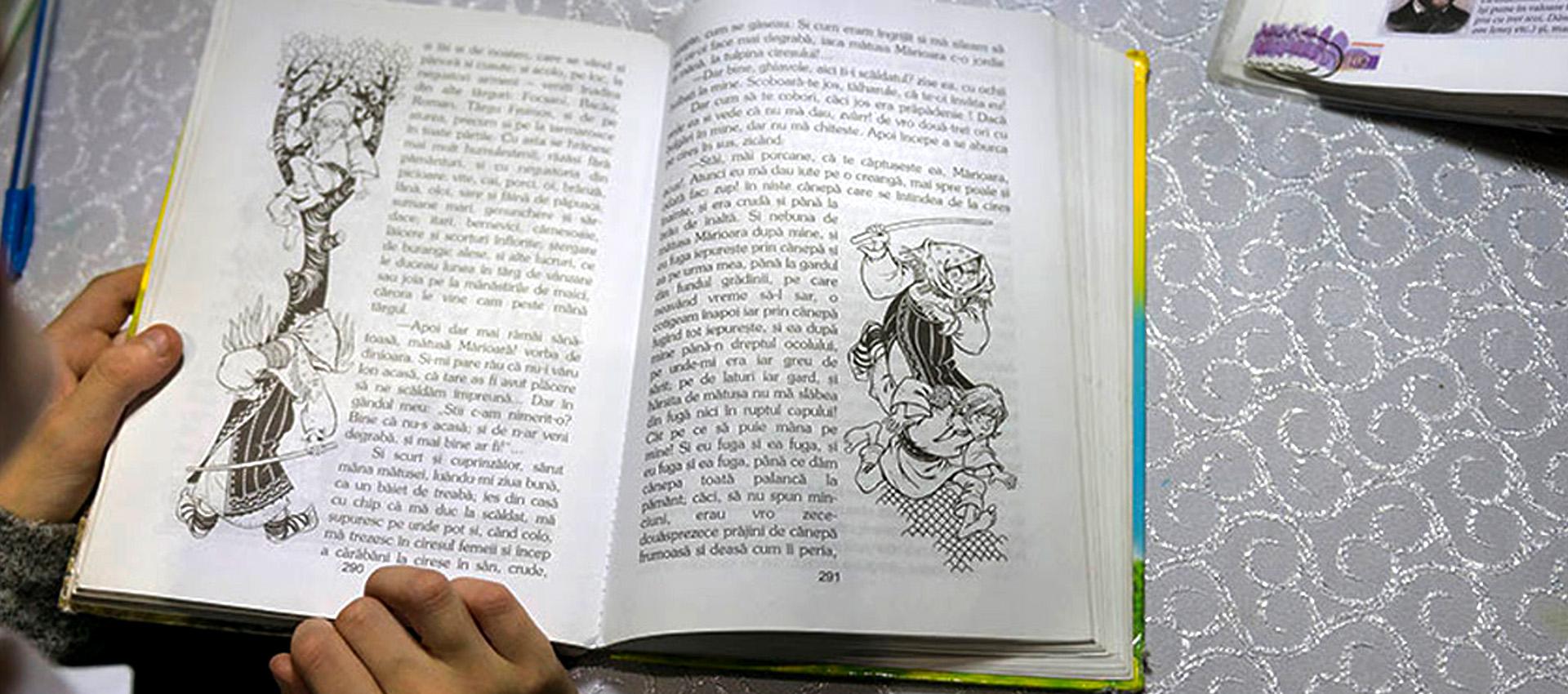 """Beatrices favoritbok är """"Historia och minnen""""."""