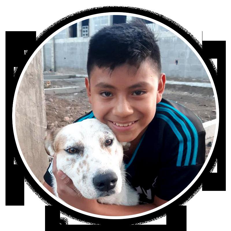 Cristian med hunden Spike