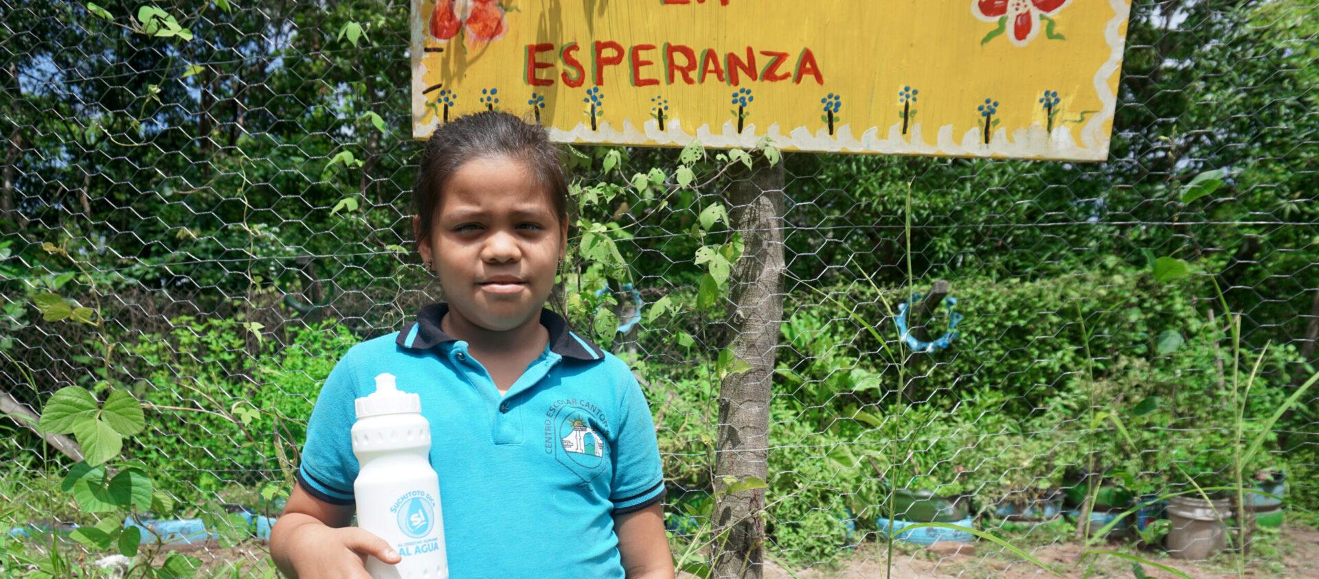 Nataly röstar i skolvalet om rätten till rent vatten