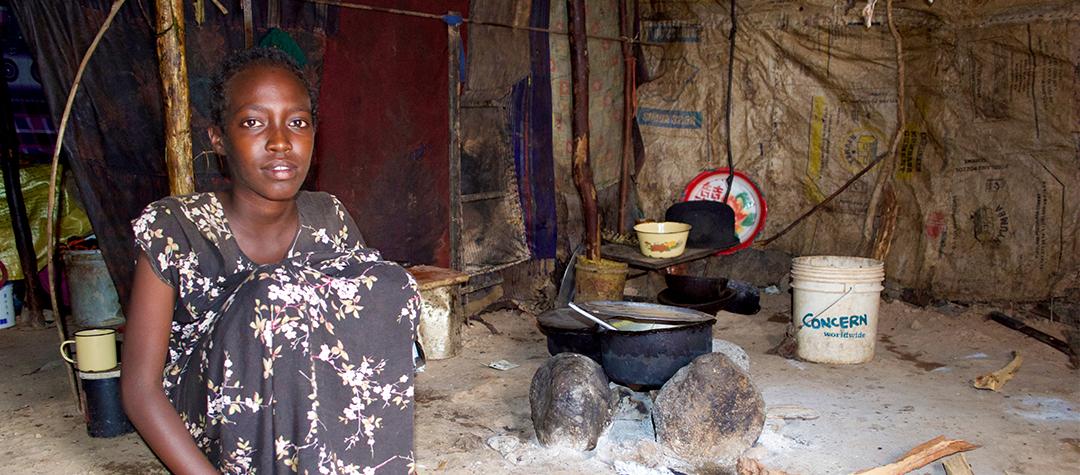 Kames familj delar med sig av maten när det behövs