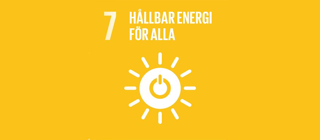 Globala målen nummer 7 - hållbar energi för alla