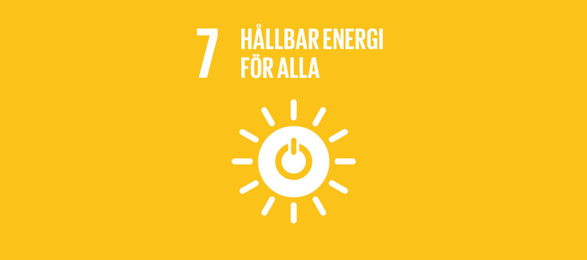 Globala målet 7 - Hållbar energi