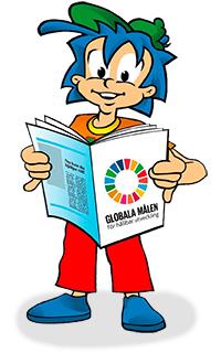 Rafiki läser om Globala Målen