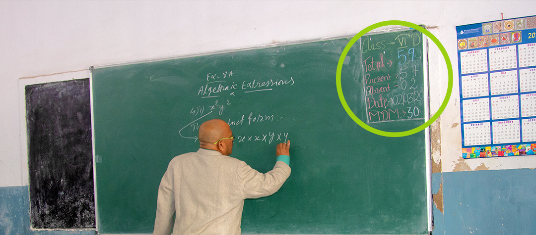 Rafiki besökte klass 5d i Ranchi.