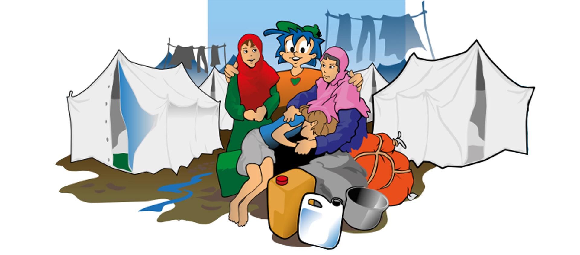 Rafiki på ett flyktingläger