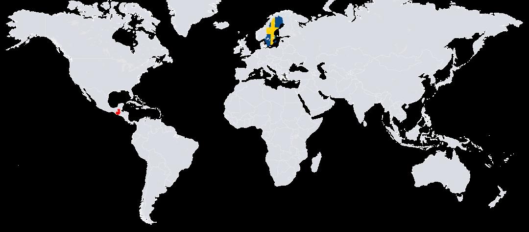 Guatemala (rödmarkerat) ligger i Centralamerika.