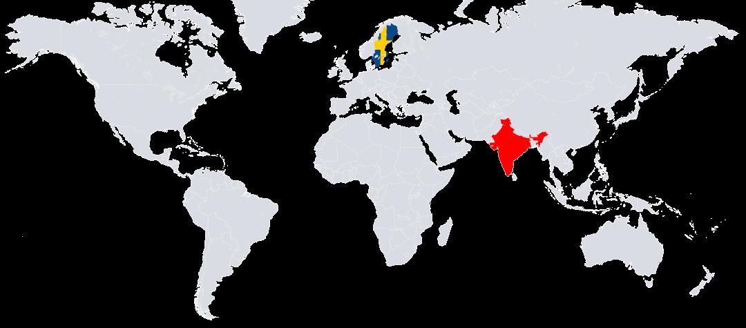 Indien ligger i södra Asien