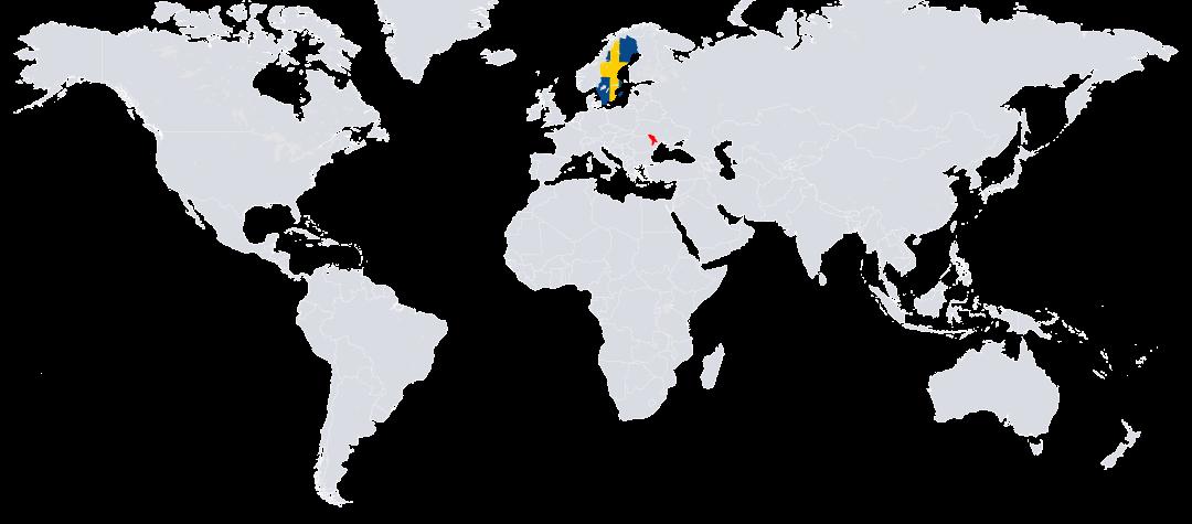 Moldavien (rödmarkerat) ligger i östra Europa