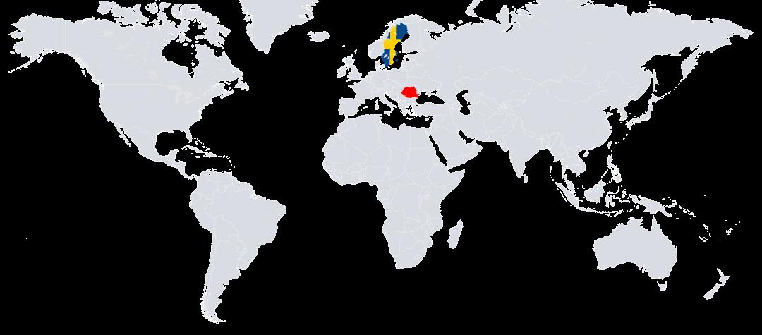 Rumänien ligger i östra Europa.