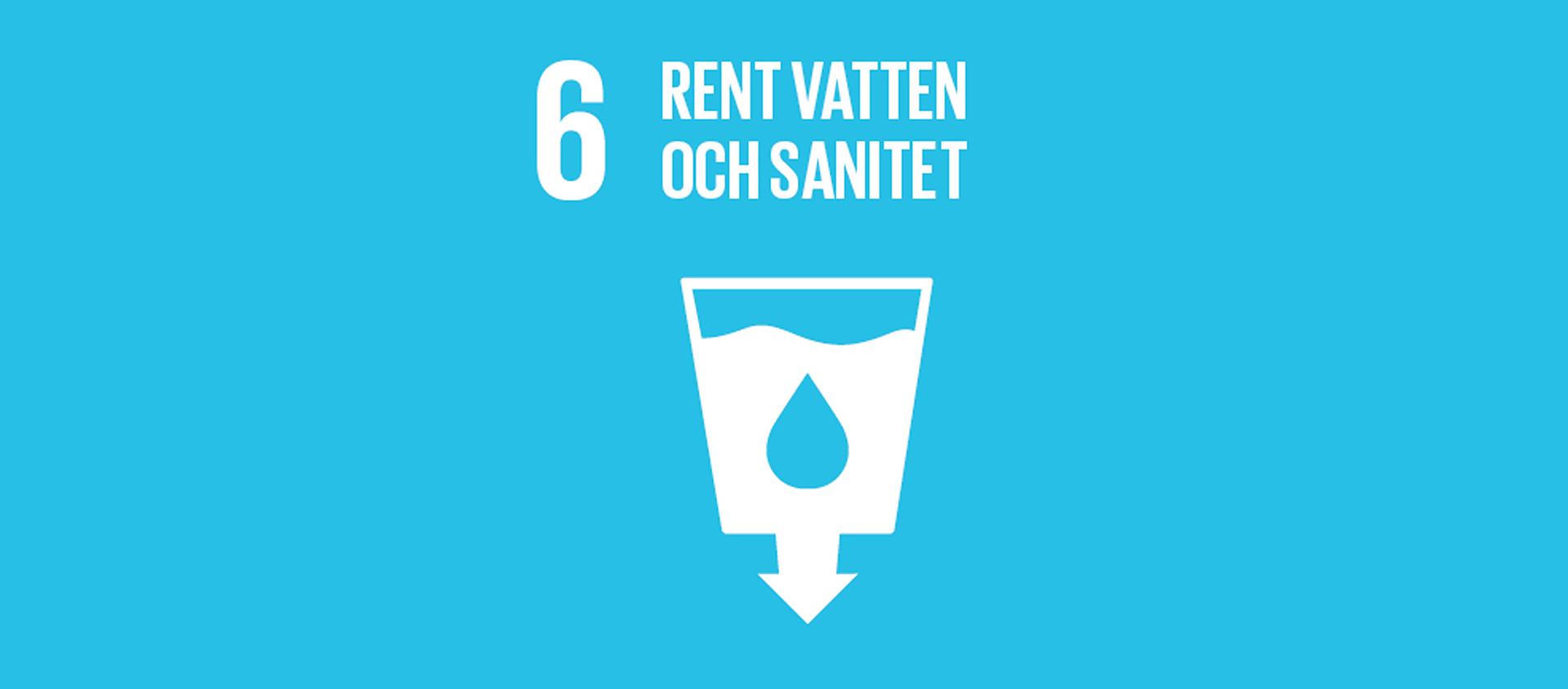 Globala målet 6 -Rent vatten och sanitet till alla