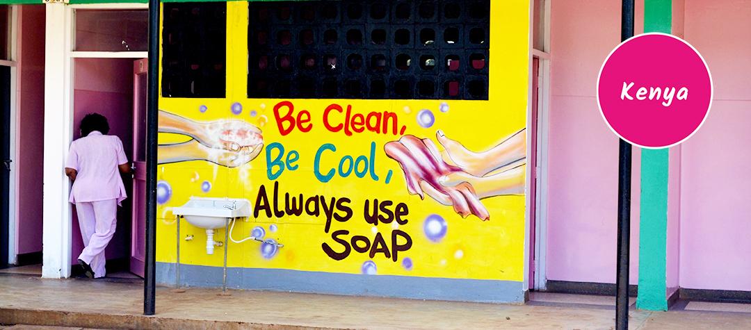 Tvätta händerna i Kenya