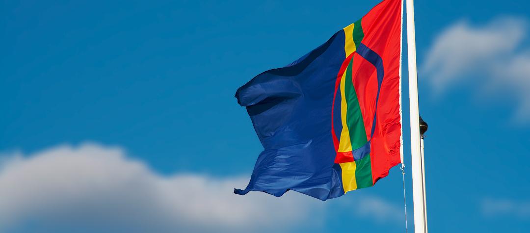 Sameflaggan. Foto: Marie Enoksson