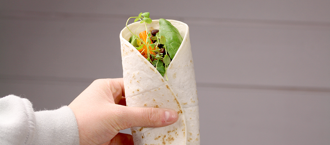 Recept på vegetariska wraps